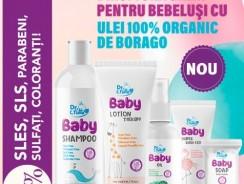 Gama bio de cosmetice bebeluși cu ulei de Borago