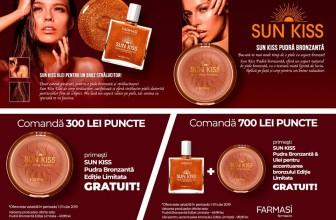 Cadou produse Sun Kiss Farmasi la comenzi de 300 și 700 puncte